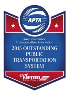 APTA Award 2015 -1